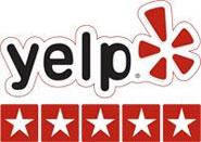 5 stars rating on Yelp