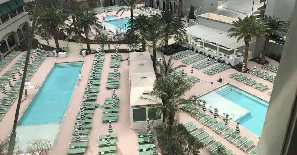 New Pool in Park MGM, Las Vegas