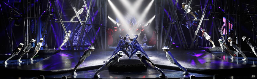 Michael Jackson One by Cirque du Soleil is a new immersive musical experience. Driven by Michael's powerful, multi-layered music - heard like never before in a riveting, state-of-the-art surround-sound environment - ONE takes the audience through a series of seamless visual and musical tableaux.