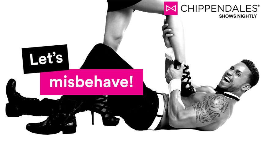"chippendales show ""let's misbehave"""