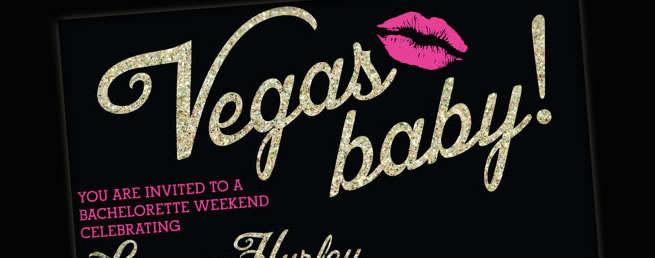 Las Vegas Bachelorette invitations