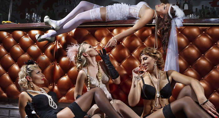 bachelorette party with ideas of what to do in Vegas
