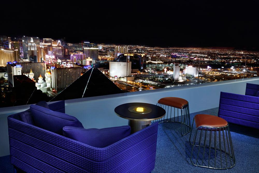 Skyfall lounge patio view